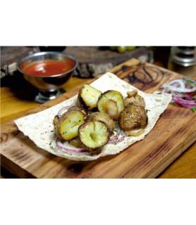 Картофель молодой с курдюком